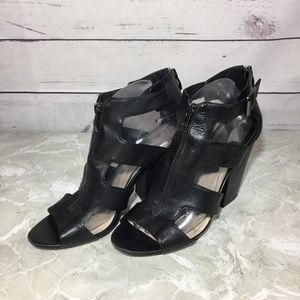 Vince Camuto Zippered Strappy Sandal Heels sz 9.5